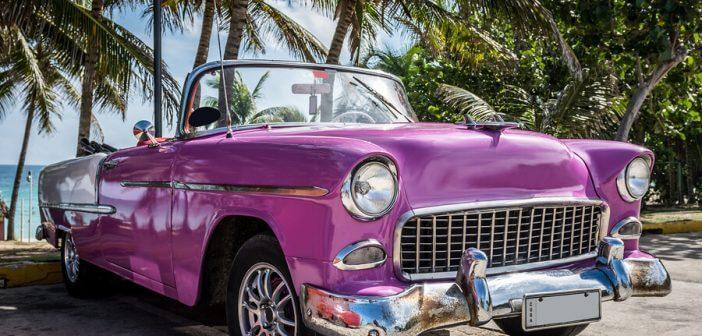 violetter Oldtimer